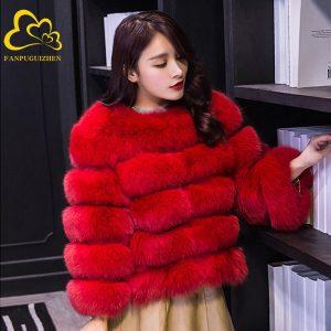 63 OFF Women Faux Fur Coat Autumn Winter